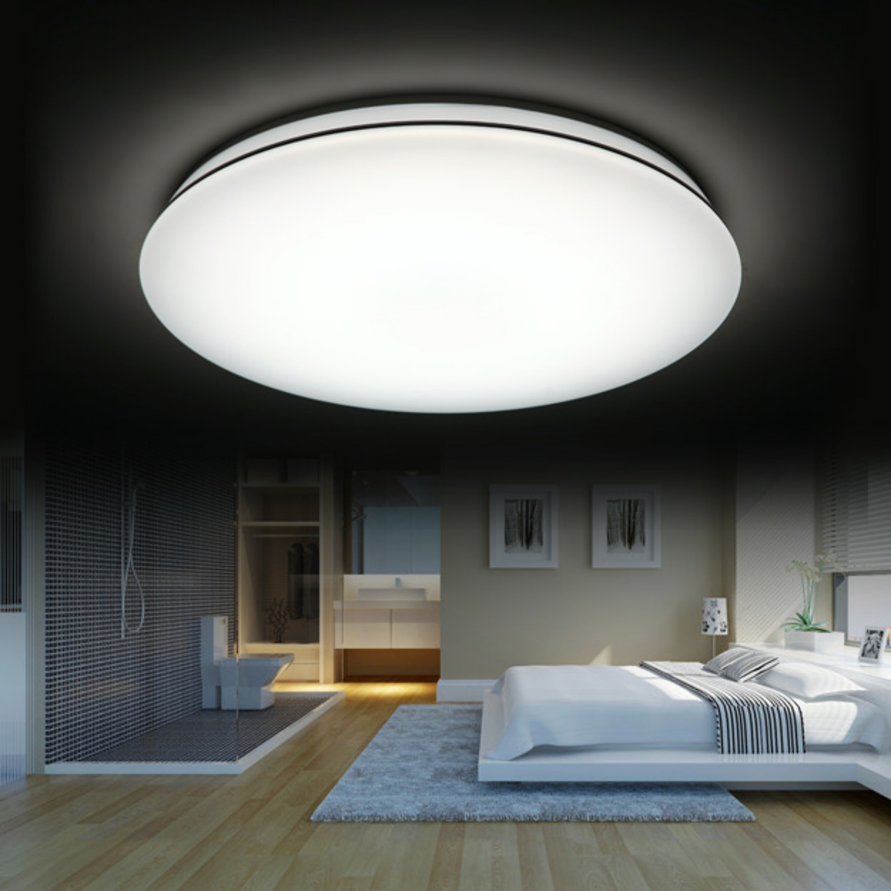 High Brightness Ceiling Mounted Luminaire High Power Factor Without Ripple Wave