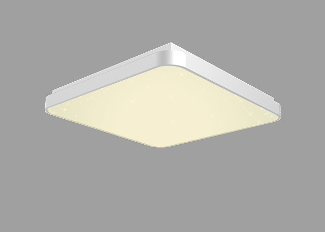 Square Warm White Ceiling Lamp Safe No Radiation Dimmable By Remote / WiFi Control